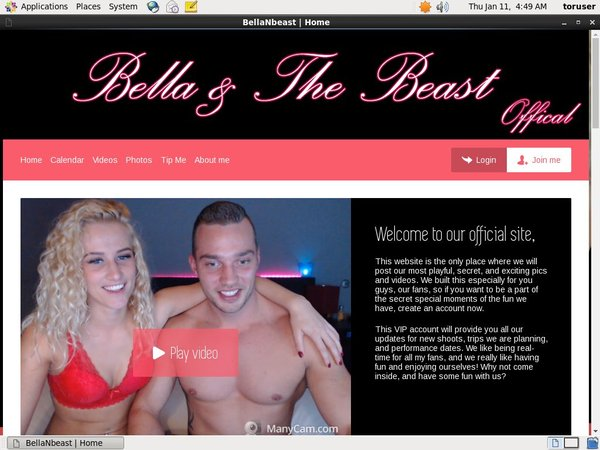 Free Bella And The Beast Password Account